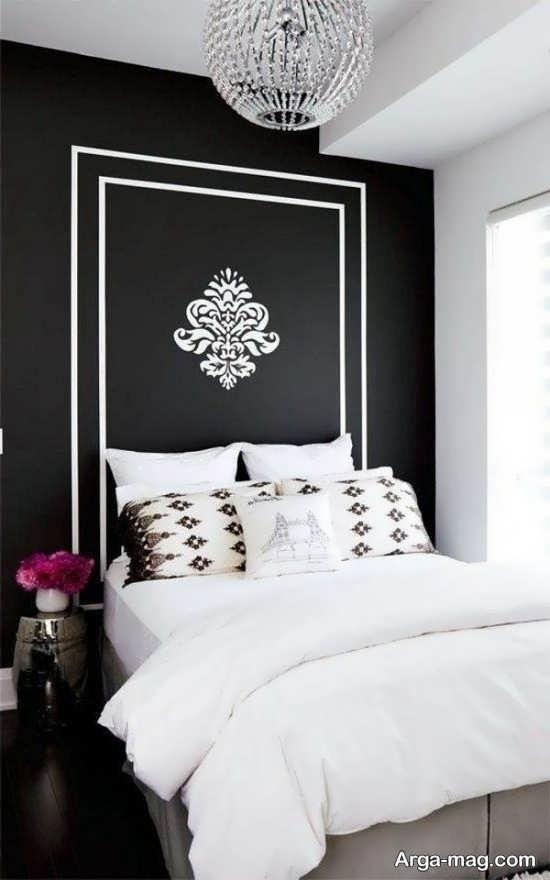 طراحی اتاق خواب مشکی سفید