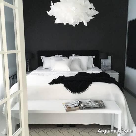 دیزاین شیک اتاق خواب سفید مشکی