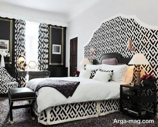 دکوراسیون جدید اتاق خواب سفید مشکی