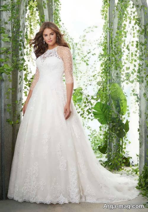 مدل پیراهن عروس سایز بزرگ