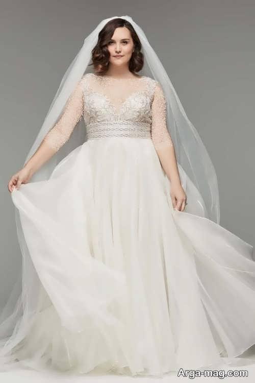 لباس عروس ساده و سایز بزرگ