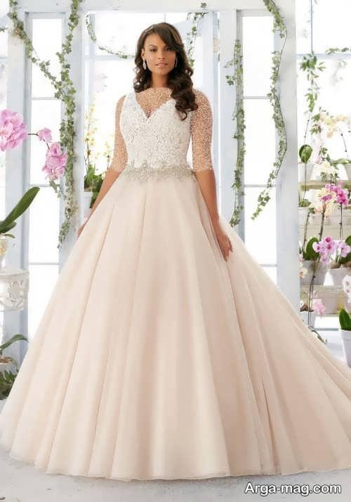 مدل لباس عروس برای افراد چاق