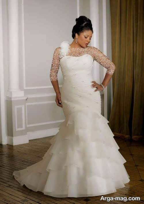 لباس عروس شیک و سایز بزرگ