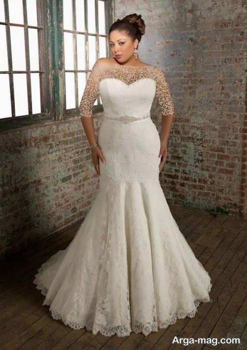 مدل لباس عروس شیک و سایز بزرگ