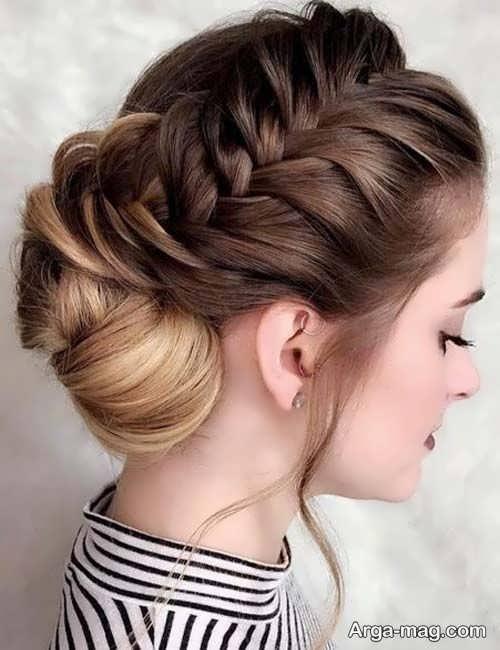 مدل شینیون همراه با بافت مو