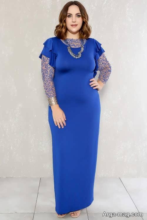 مدل لباس مجلسی بلند برای خانم های شکم دار