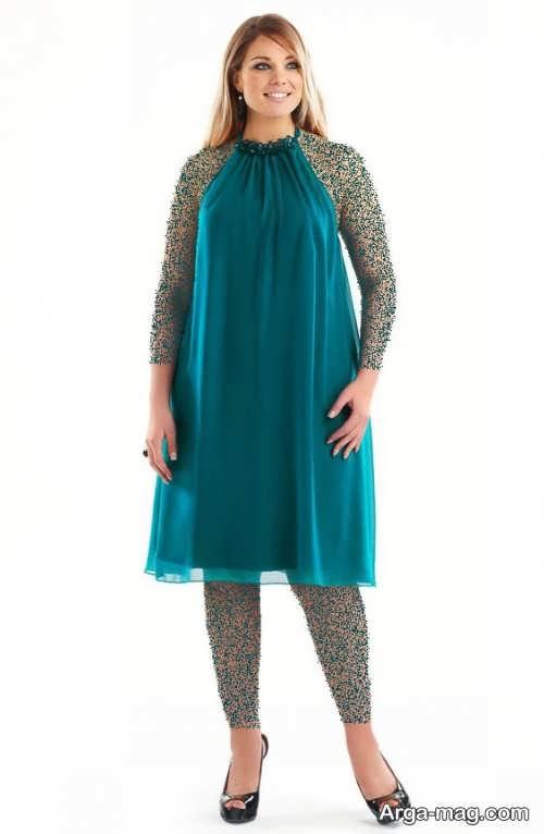 لباس مجلسی حریر سبز