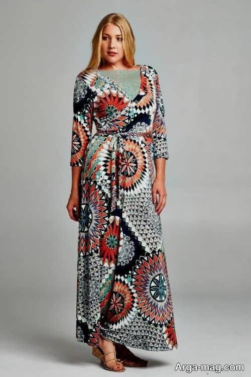مدل لباس مجلسی طرح دار و شیک