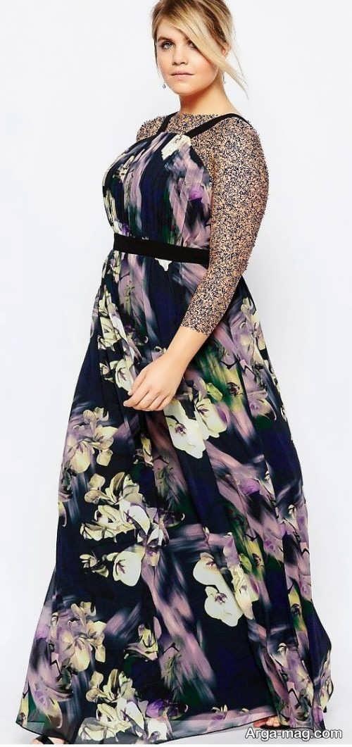مدل لباس مجلسی زیبا و گلدار