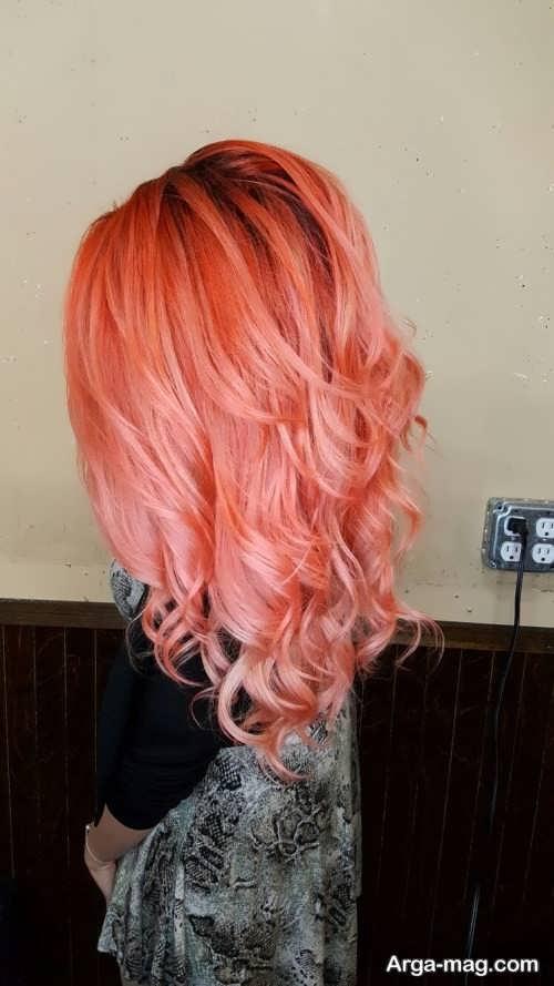 رنگ مو مرجانی روشن