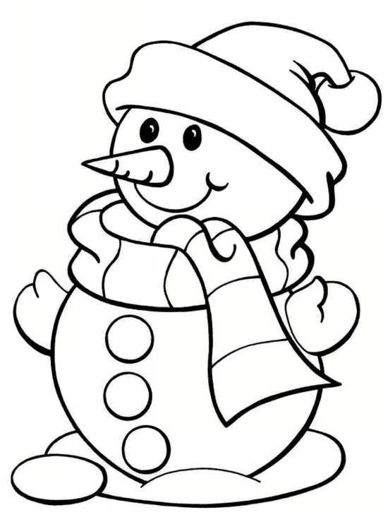 نقاشی آدم برفی برای بچه ها