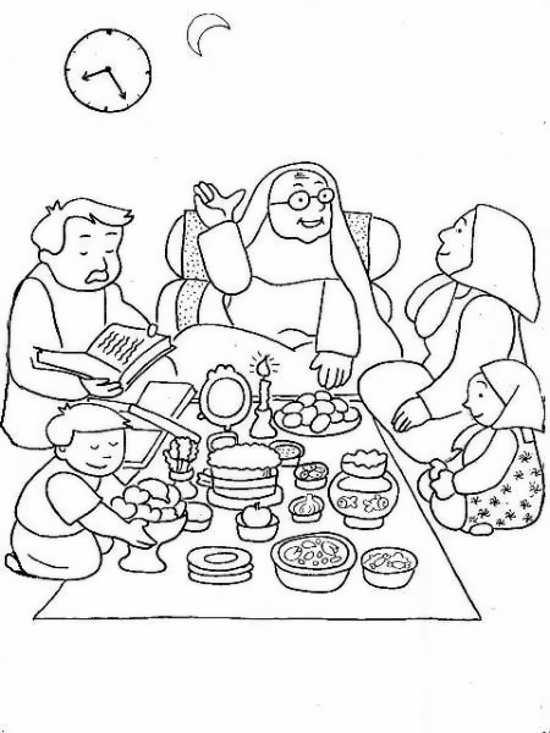 نقاشی کودکانه شب یلدا