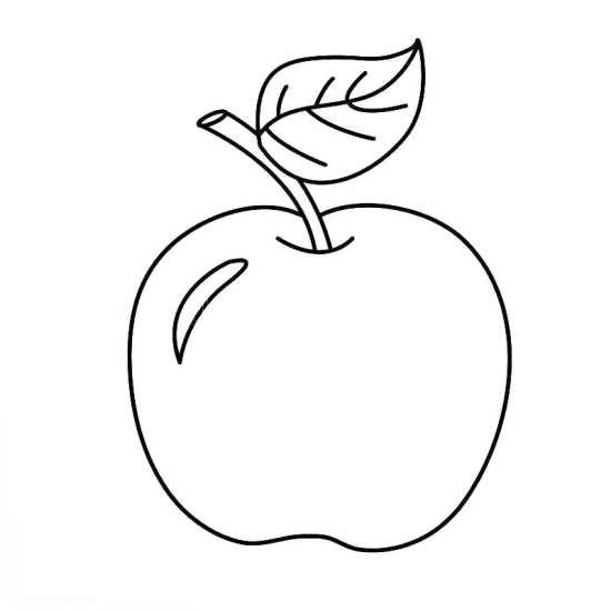 نقاشی سیب برای کودکان