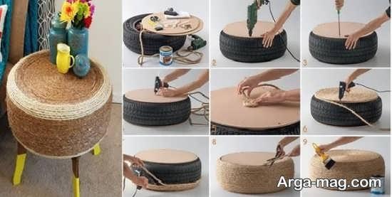 روش ساخت مبلمان با استفاده از لاستیک