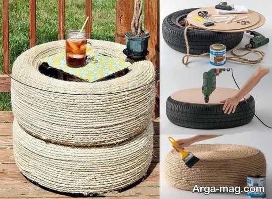 ساخت مبل راحتی به وسیله لاستیک