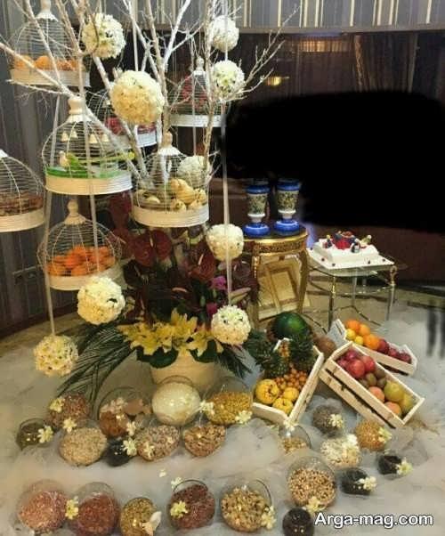تزیین جدید هدایا برای شب یلدای عروس