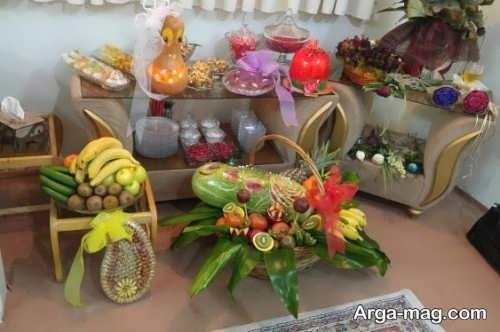 تزیین شیک هدایا برای شب یلدای عروس