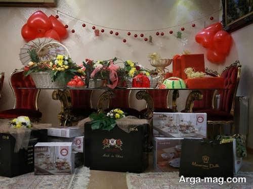 تزیین ایده آل هدایا برای شب یلدای عروس