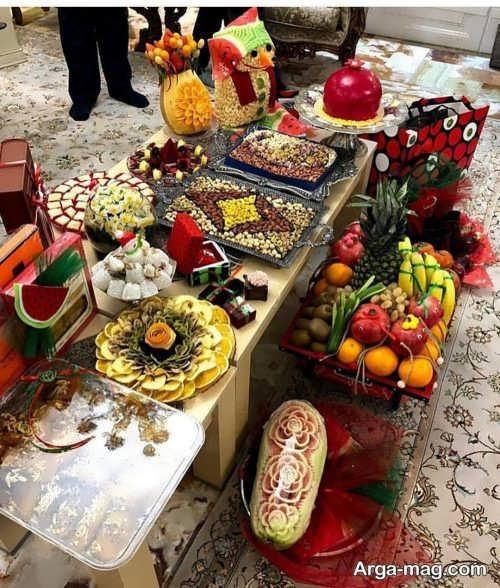 تزیین هنرمندانه هدایا برای شب یلدای عروس