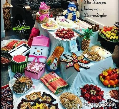 تزیینات زیبا و جالب برای شب یلدا