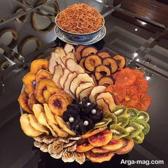 تزیین زیبای میوه خشک برای شب یلدا