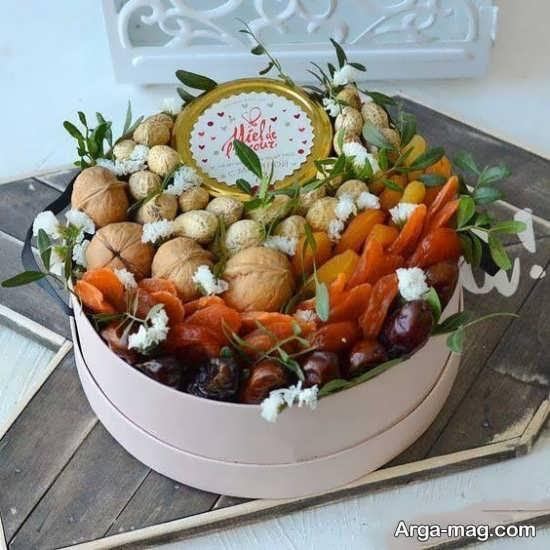 تزیینات شیک میوه خشک برای شب یلدا