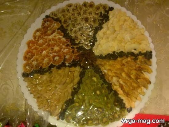 تزیینات هنرمندانه میوه خشک برای شب یلدا