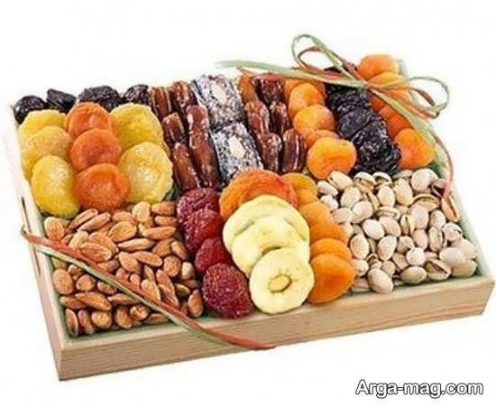 ایده های جذاب برای تزیین میوه خشک شب یلدا