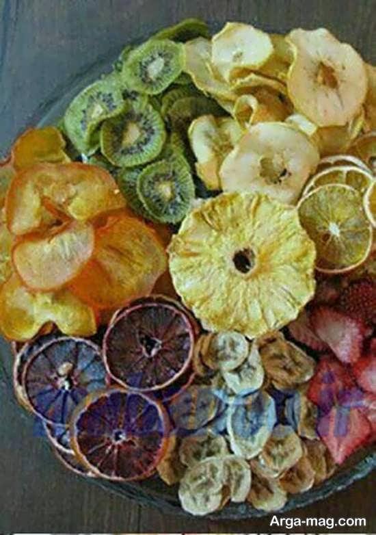 روش های جذاب برای تزیین میوه خشک شده شب یلدا