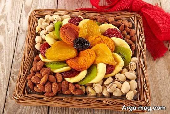 تزیینات زیبای میوه خشک شده برای شب یلدا