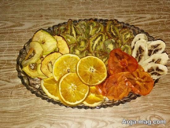 تزیین ساده میوه خشک برای شب یلدا