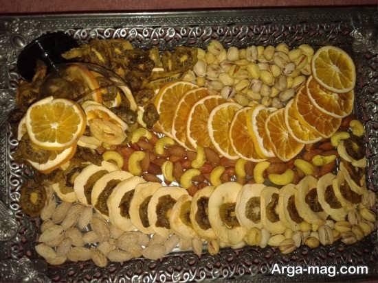تزیین جذاب میوه خشک برای شب یلدا
