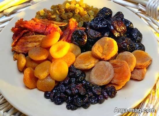 تزیین جدید میوه خشک برای شب یلدا