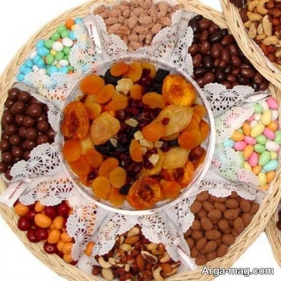 تزیین متفاوت میوه خشک برای شب یلدا