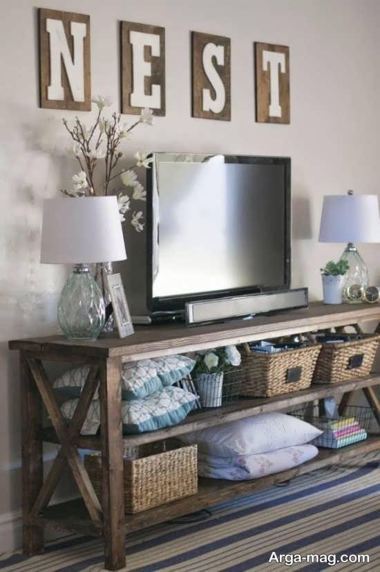 تزئین شیک میز تلویزیون