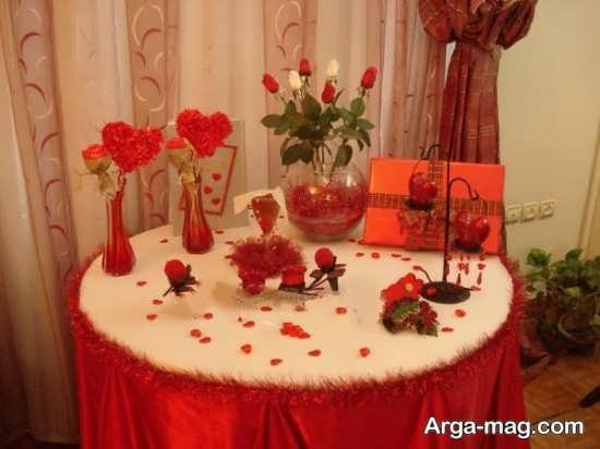 دکوراسیون میز نامزدی