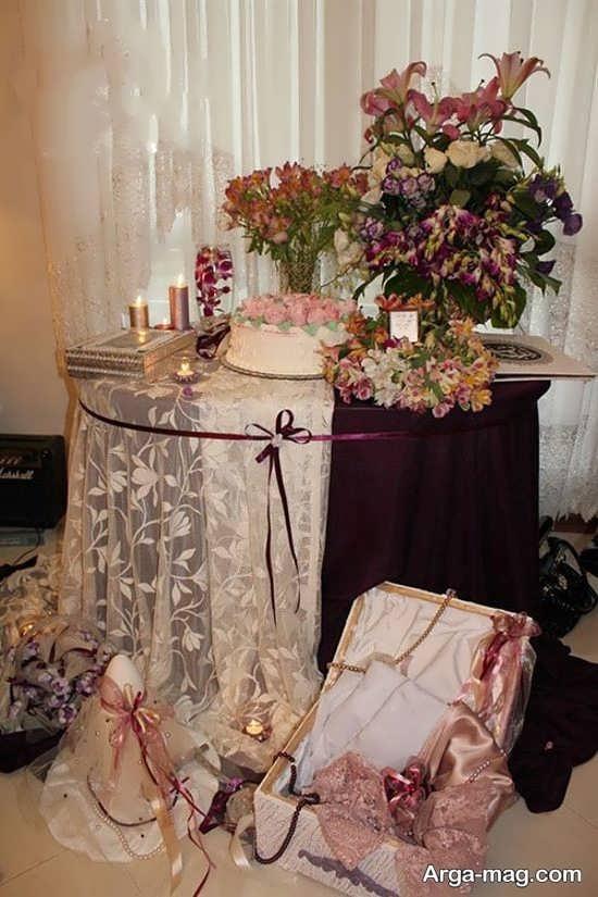 تزیین زیبای میز نامزدی