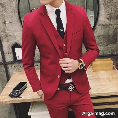 کت و شلوار رنگ روشن مردانه
