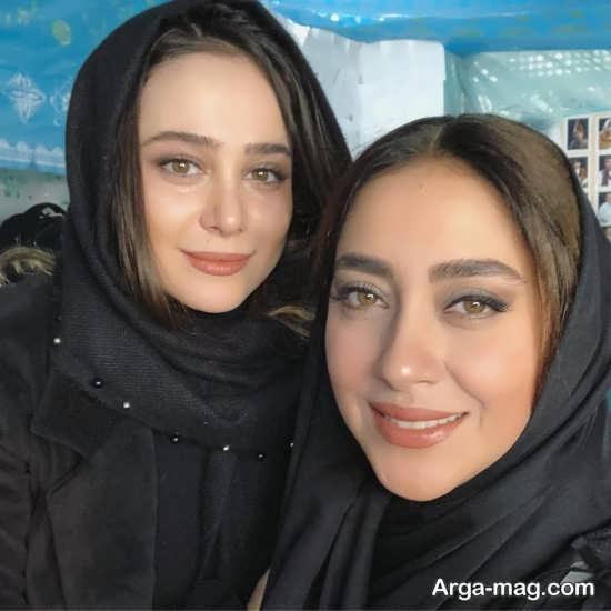 الناز حبیبی با موی لخت
