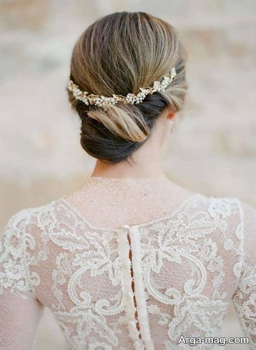 مدل موی شیک و بسته برای عروس