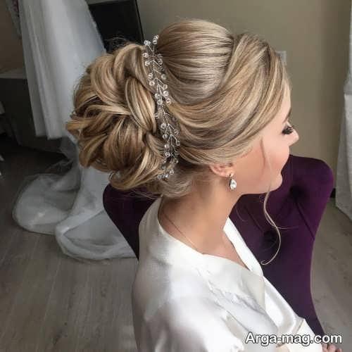 مدل موی بسته و ساده عروس