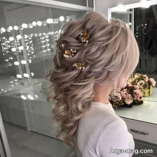 مدل موی شیک و باز برای عروس