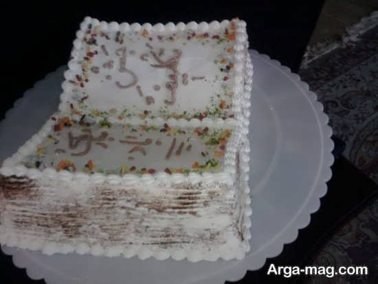 تزئین شیک کیک جشن تکلیف