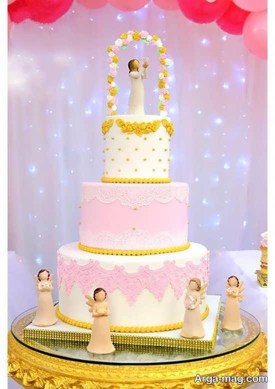 تزیین جالب کیک جشن تکلیف