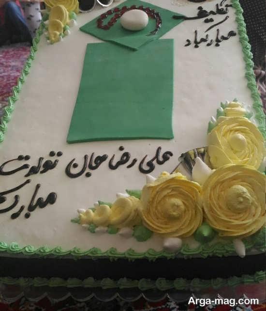 تزیین گل کیک جشن تکلیف