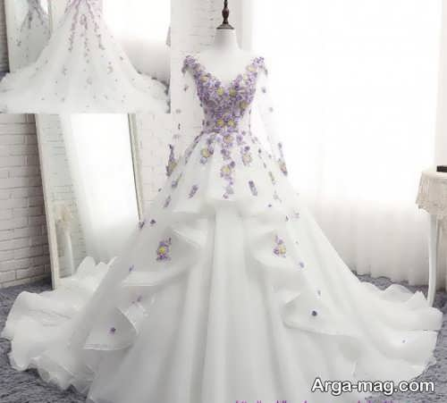 مدل لباس عروس طرح دار