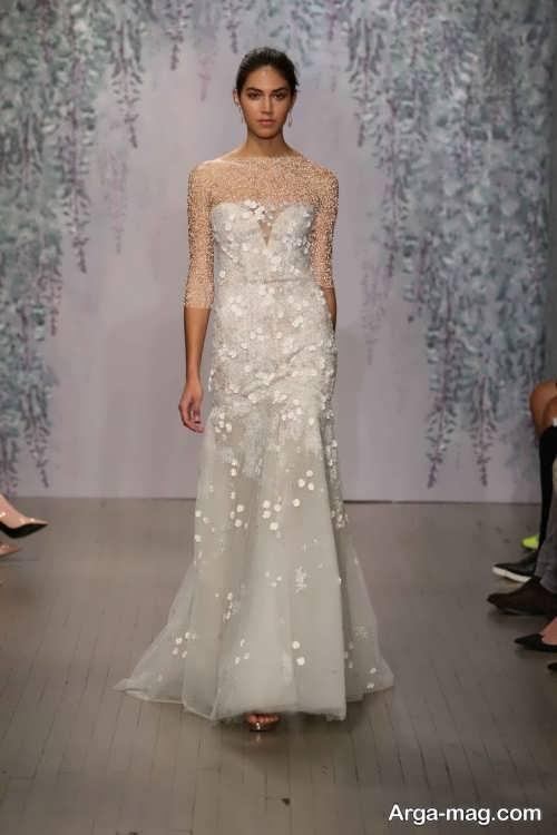 لباس عروس خاص و گلدار