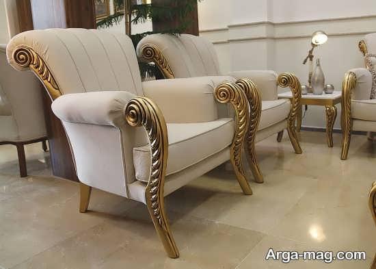 مدل مبلمان سلطنتی طلایی