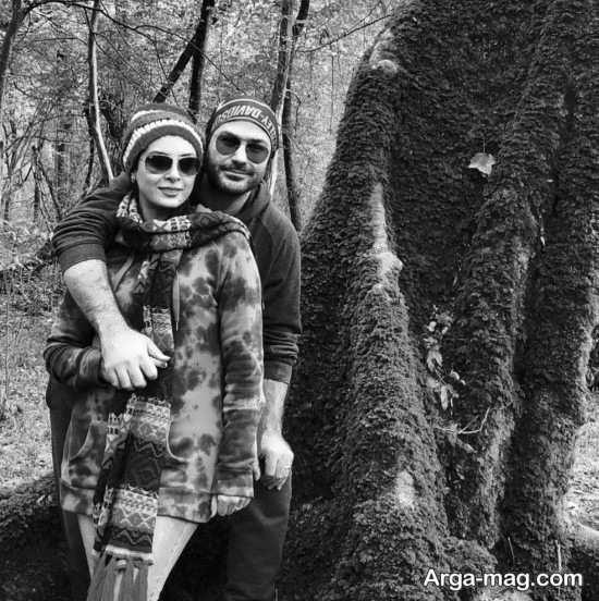 عکس دیدنی حدیثه تهرانی و همسرش