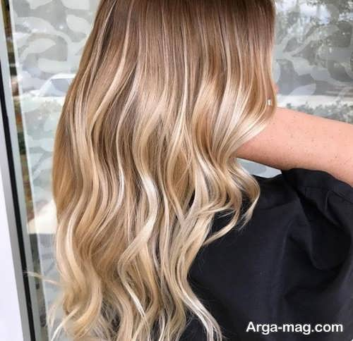 رنگ موی آمبره طلایی
